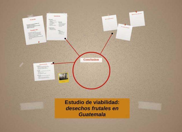 Estudio de viabilidad sobre los desechos frutales en Guatemala