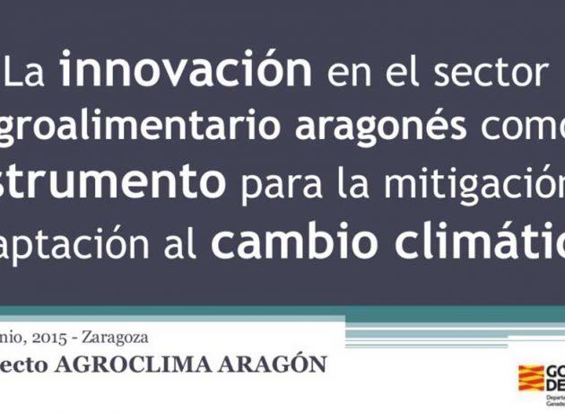 La Innovación en el sector agroalimentario como instrumento para la sostenibilidad (Agroclima Aragón)