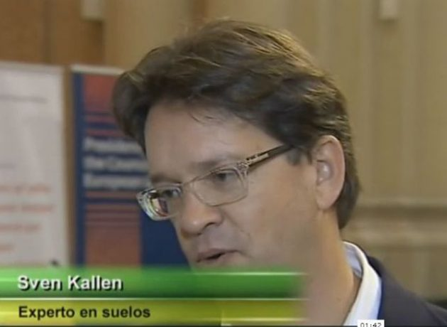 RTVE interviews Sven Kallen as part of the technical seminar on soil management