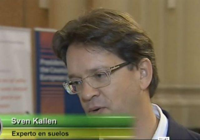 RTVE interviews Sven Kallen as part of the technical seminar on soil management
