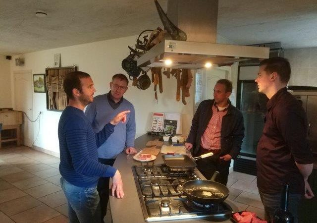 Meat tasting at Eco Fields with organic veal experts